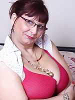 Big breasted British mature slut getting naughty