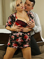 Hot big breasted housewife fucking and sucking